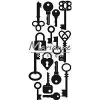 Marianne Design Craftables - Llaves, Metal, Gris, 16 x 8.4 x 0.2 cm