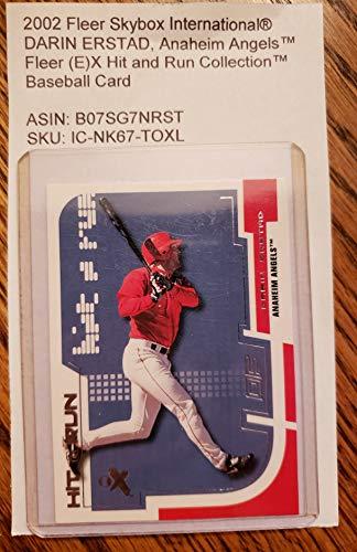 2002 Fleer Skybox International® DARIN ERSTAD, Anaheim AngelsTM Fleer (E) X Hit and Run CollectionTM Baseball Card
