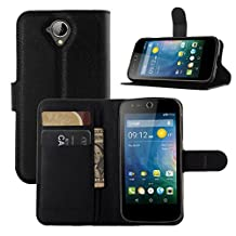 Acer Z330 Case, ANGELLA-M Retro Litchi Texture Wallet Stand Case PU Leather Flip Protective Case Cover For Acer Liquid Z330 Z320 M330 - Black
