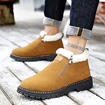 KathShop Mens Snow Boots Winter Brand Comfort Boots Men Warm Casual Shoes High Quatily Zapatillas Hombre