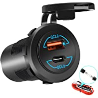 Quick Charge 4.0 PD Type C Charger Power Outlet and Quick Charge 3.0 USB Charger Socket Upgraded Version, 12V USB Outlet…