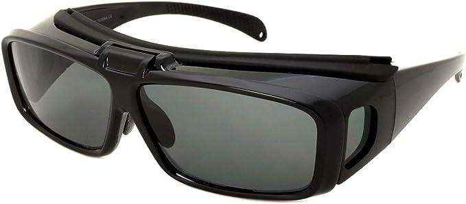 Large FLIP UP POLARIZED FIT OVER Sunglasses Cover Prescription Rx eyeglasses Men
