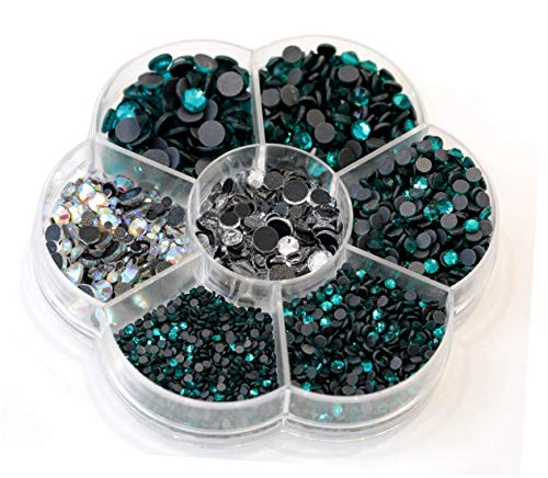 BLINGINBOX Hotfix Rhinestone 28 Colors to Choose 3000pcs Mixed Sizes(ss6-ss30) Blue Zircon DMC Hot Fix Glass -
