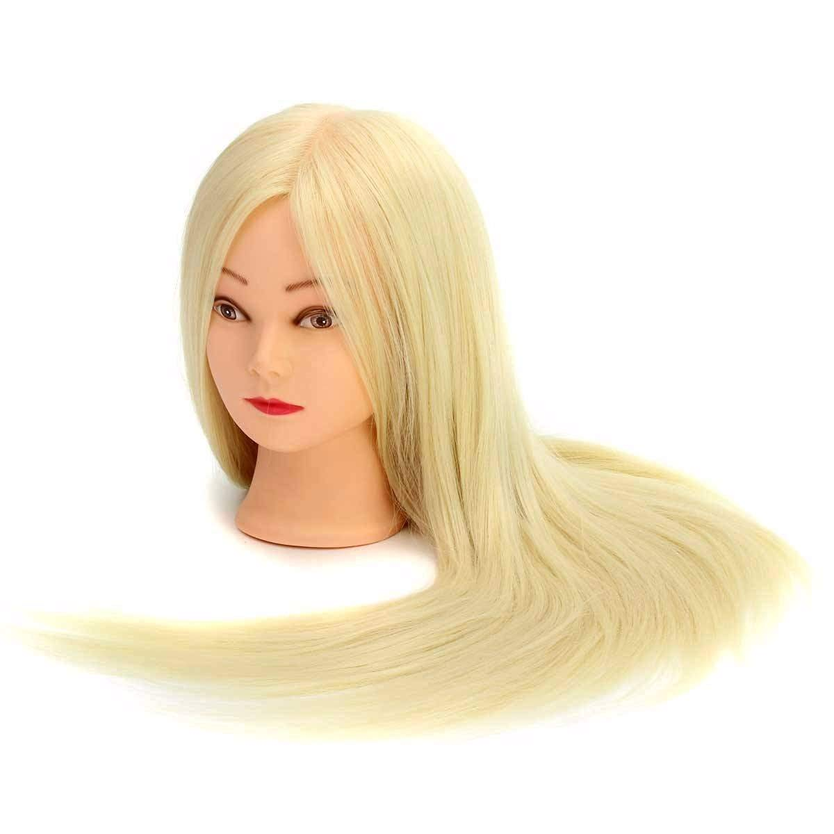 'margueras Professional Styling Head 24Super Long Women Hair Manikin with Holder