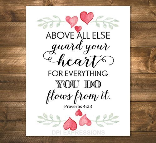 Amazon proverbs 423 art print above all else guard your heart proverbs 423 art print above all else guard your heart inspirational art altavistaventures Images