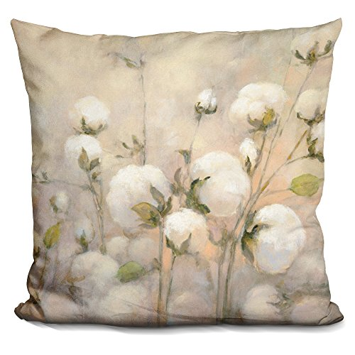 LiLiPi Cotton Field Decorative Accent Throw Pillow (Field Cotton Throw)