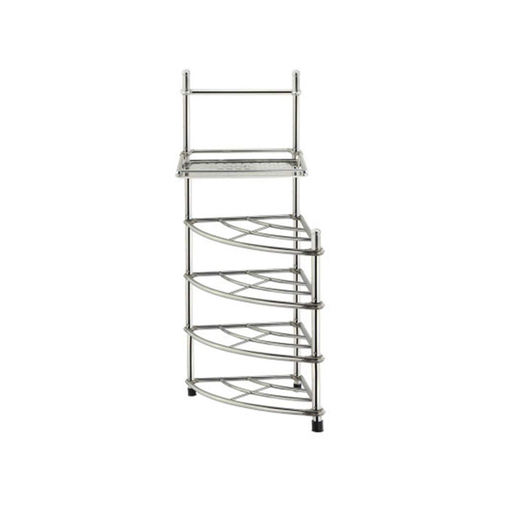 48.5127cm Cqq Shelf Multi-Layer Stainless Steel Wash Basin Stand Floorstanding Tripod Kitchen Bathroom Storage Shelves Bathroom Basin Stand (Size   48.5  126cm)