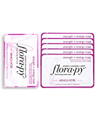 Florapy Beauty Strength + Energy Sheet Aromatherapy Mask, Arnica Rose, 5 Count