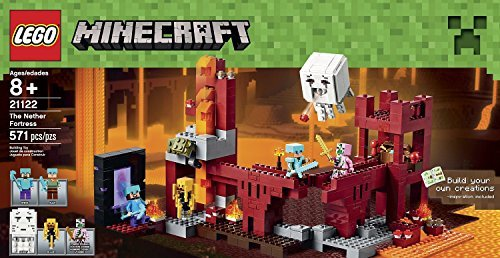 LEGO Minecraft the Nether Fortress (571pcs) Figures Building Block Toys by Building toys