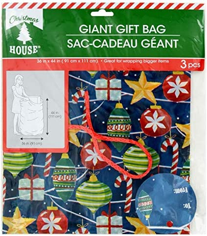 Christmas Pudding Design Xmas Bin Bags 16 x 50 Litre Capacity New Gift