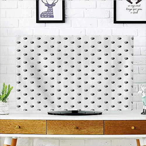 L-QN Cover for Wall Mount tv Dots Yin Yang Patterns Universa