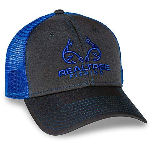Realtree Fishing Blue Mesh Back Cap (Hats Realtree)