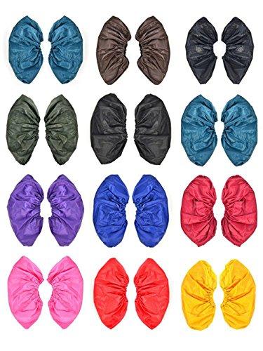 dealglad® de 2paires de unisexe réutilisable étanche imperméable pluie en PVC antidérapant chaussures chaussures Cover L 35–43(couleur aléatoire)