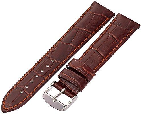 Tech Swiss LEA1850-20 20mm Leather Crocodile Brown Watch Strap
