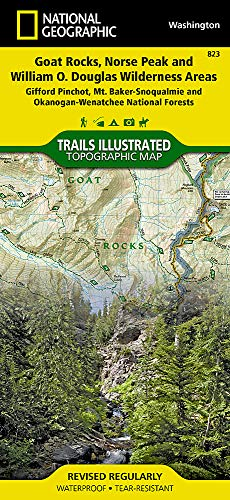 (Goat Rocks, Norse Peak and William O. Douglas Wilderness Areas [Gifford Pinchot, Mt. Baker-Snoqualmie, and Okanogan-Wenatchee National Forests] (National Geographic Trails Illustrated Map) )