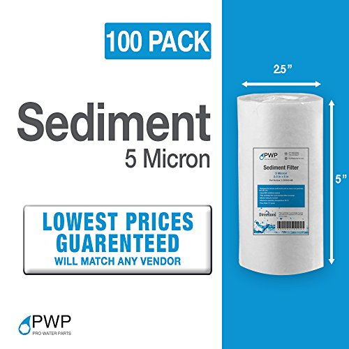 PWP Sediment Water Filter RO/DI Biodiesel WVO/SVO Whole House 5x2.5in 5 Micron 100Amassment