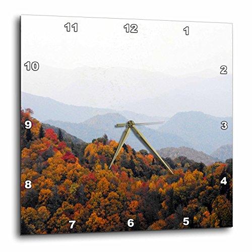 North Carolina Desk Clock - 3dRose dpp_22397_1 Fall in The Smokey Mountains North Carolina Mountains Wall Clock, 10 by 10-Inch