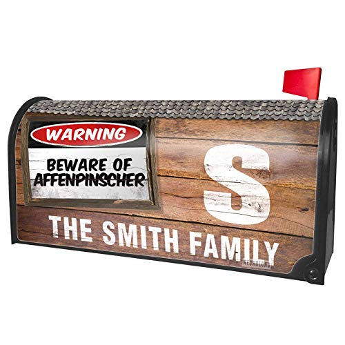 (NEONBLOND Custom Mailbox Cover Beware of The Affenpinscher Dog from Germany, France)