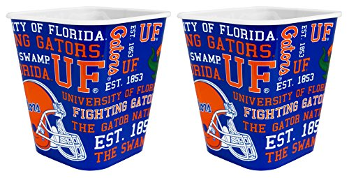 Florida Gator Football Bowl (NCAA Florida Gators 3 Liter Reusable Plastic Snack Bucket 2 Pack)