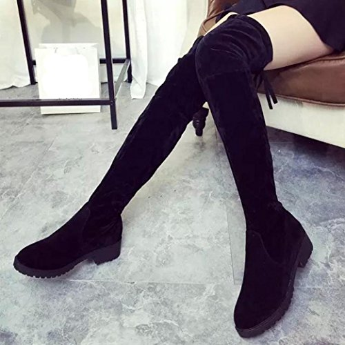 Sexy 2016 Kolylong Bottines Over Hiver femme Knee Botte femme wqaxxnCF