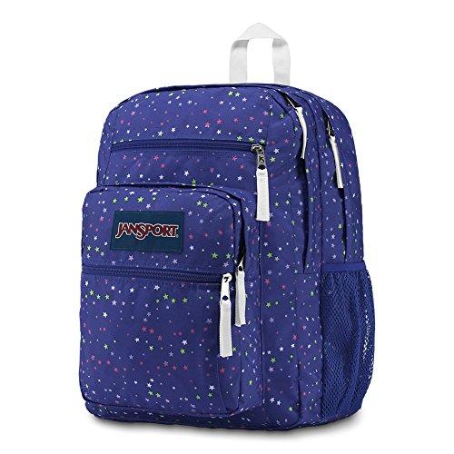 Men Bags 100 Polyester Scattered Student Jansport Big Stars Black qHaff1
