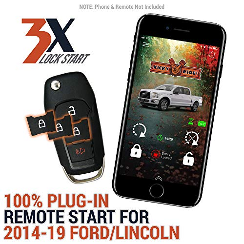 Plug in Smartphone Control (1st year included!) & Remote Start Kit for 2014-2019 Ford & Lincoln Vehicles - F-150 | F-250 | F-350 | Fusion | Continental | Expedition | MKC | MKZ | Nautilus | Navigator (F150 2018 Remote Start)