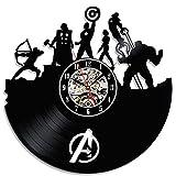 Avengers Super Heroes Vintage Vinyl Wall Clock