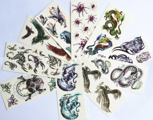 Used, 10pcs/package hot selling temporary tattoo stickers for sale  Delivered anywhere in USA