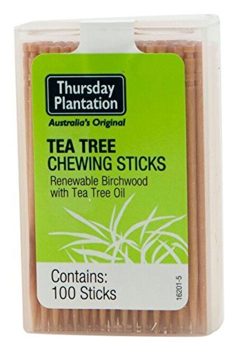 (Tea Tree Chewing Sticks Original Thursday Plantation 100 Toothpick)