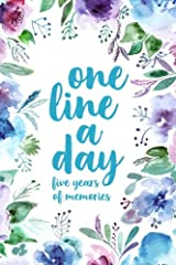 One Line A Day: Five Years of Memories, Floral Watercolor, 6x9 Diary, Dated and Lined Book Paperback