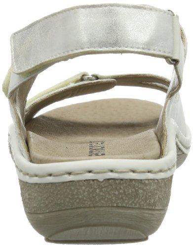 Remonte Remonte D7656 - Sandalias de cuero para mujer, color blanco, talla 36 Blanco (Weiß (weiss/ice 80))