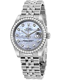 Datejust Lady 31 Mother of Pearl Dial Stainless Steel Rolex Jubilee Automatic Watch 178384MDJ