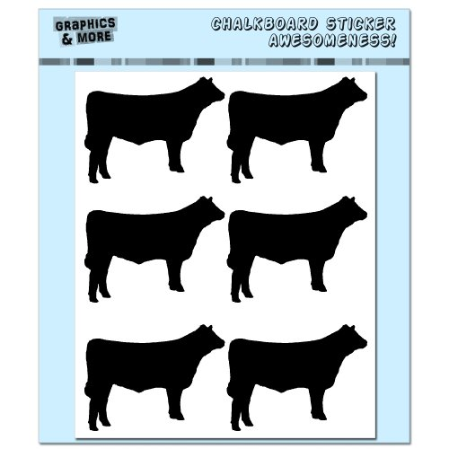 Cows Chalkboard Stickers Container Markers