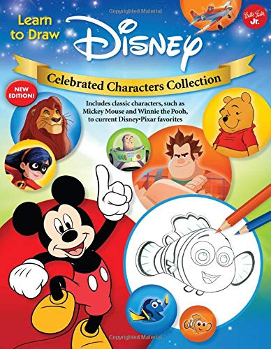 Learn to Draw Disney Celebrated Characters Collection: New edition! Includes classic characters, such as Mickey Mouse and Winnie the Pooh, to current Disney/Pixar favorites (Licensed Learn to Draw)