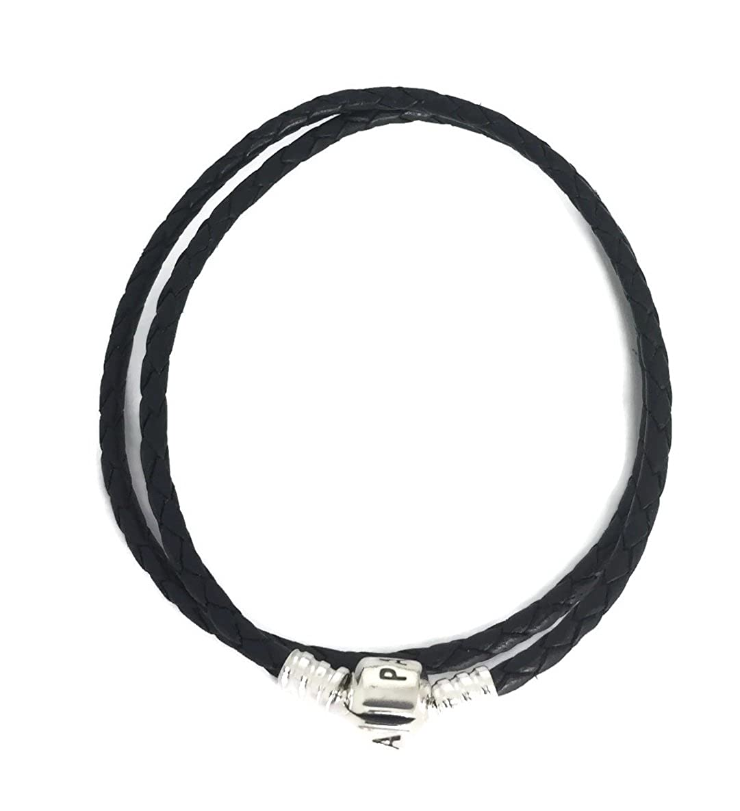 d1a055a75 Pandora Medium Double Black Leather Bracelet (15inch/38cm), 590705cbk-d2:  PANDORA: Amazon.co.uk: Jewellery
