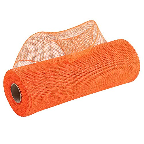 Wreath Maker Orange Deco Mesh - 10