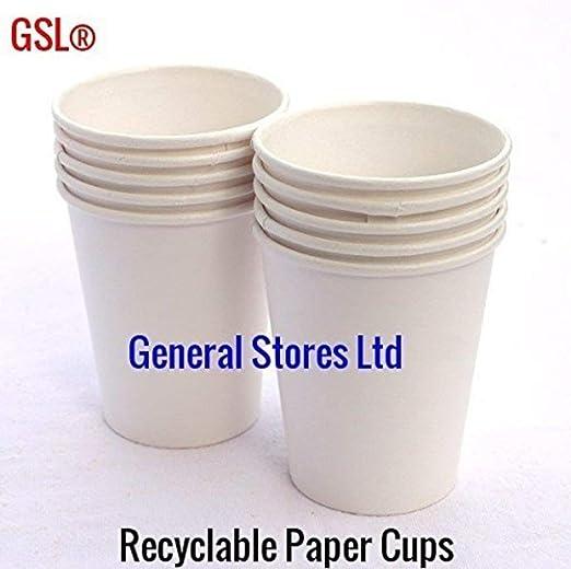 GSL - 50 vasos de papel blanco para enfriar agua, 200 ml ...