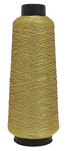 - Telephone Threads 600 Meter 100% Polyester Gold Sewing Machine Embroidery Thread Yarn