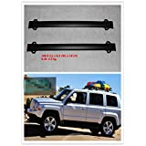 Highitem 2Pcs Roof Rack Cross Bars with Vertical Side Bars for Jeep Patriot 2011-2016