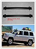 Highitem 2Pcs Roof Rack Cross Bars with Vertical Side Bars for Jeep Patriot 2011-2016