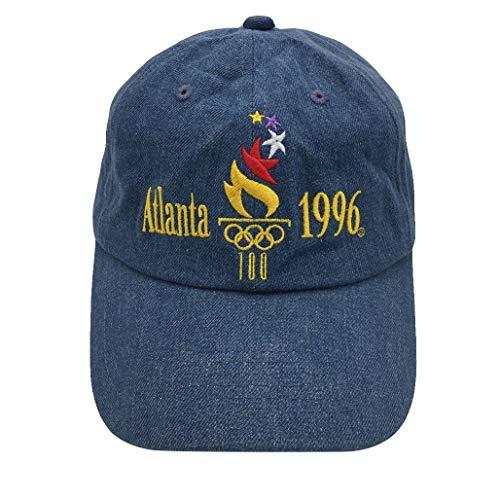 binbin lin Atlanta 1996 Baseball Cap Embroidered Dad Hat Adjustable Snapback Unisex (Denim) by binbin lin