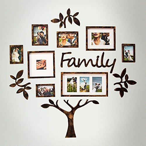 Jerry   Maggie   Photo Frame   Plaque College Frame   Wall Decoration Combination   Brown Pvc Picture Frame Selfie Gallery Collage With Hanging Template   Wall Mounting Design   Family Tree
