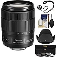 Canon EF-S 18-135mm f/3.5-5.6 IS USM Zoom Lens with 3 UV/CPL/ND8 Filters + Hood + Kit for EOS 70D, 7D, Rebel T5, T5i, T6, T6i, T6s, SL1 Cameras