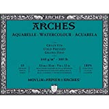 Arches Water Colour Block, 300 lb / 640GSM, Cold Pressed, 9'' x 12''