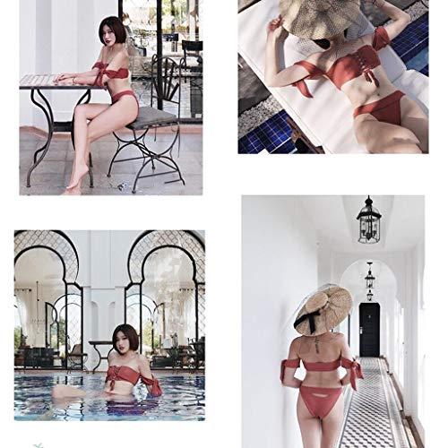 Da Spiaggia Spa L color Bagno E Donna Split Red Intimo Bikini Interi Size Sexy Blue Costumi Mare Top Costume Piscina gSztB