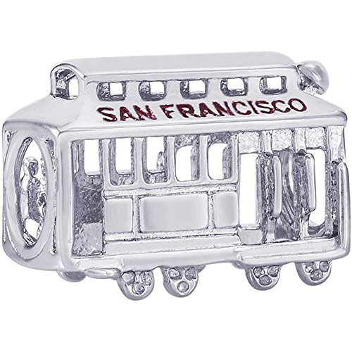 Rembrandt Charms SAN Francisco Cable CAR Charm in Gold OR Silver (Sterling Silver) ()