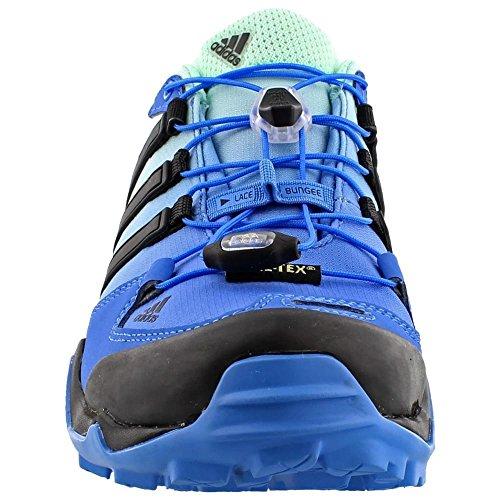 Adidas Terrex al aire libre Swift R Gtx Senderos de zapatos - Negro / explosión púrpura 5 Ray Blue / Black / Ice Green