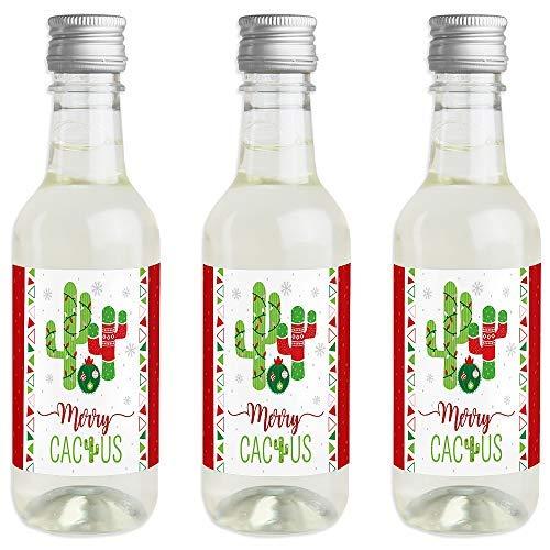 Merry Cactus - Pegatinas para botella de vino y champán (16 ...