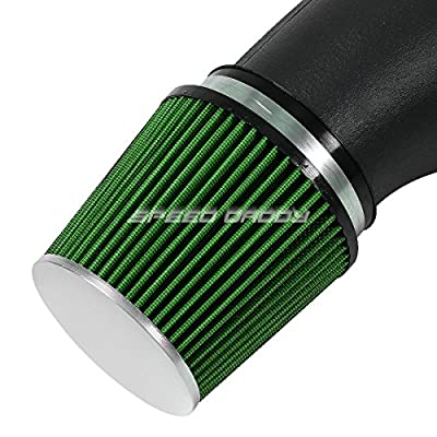 Black Flared Pipe Intake Induction System with Green Air Filter for Honda Civic 92-00 /Del Sol 93-97 EG EH EJ EM: Automotive
