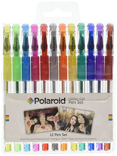 Polaroid Colorful Glitter Gel Pens For 2x3 Photo Paper Projects (Snap, Zip, Z2300) - Pack of - Pens Glitter Colorful Gel